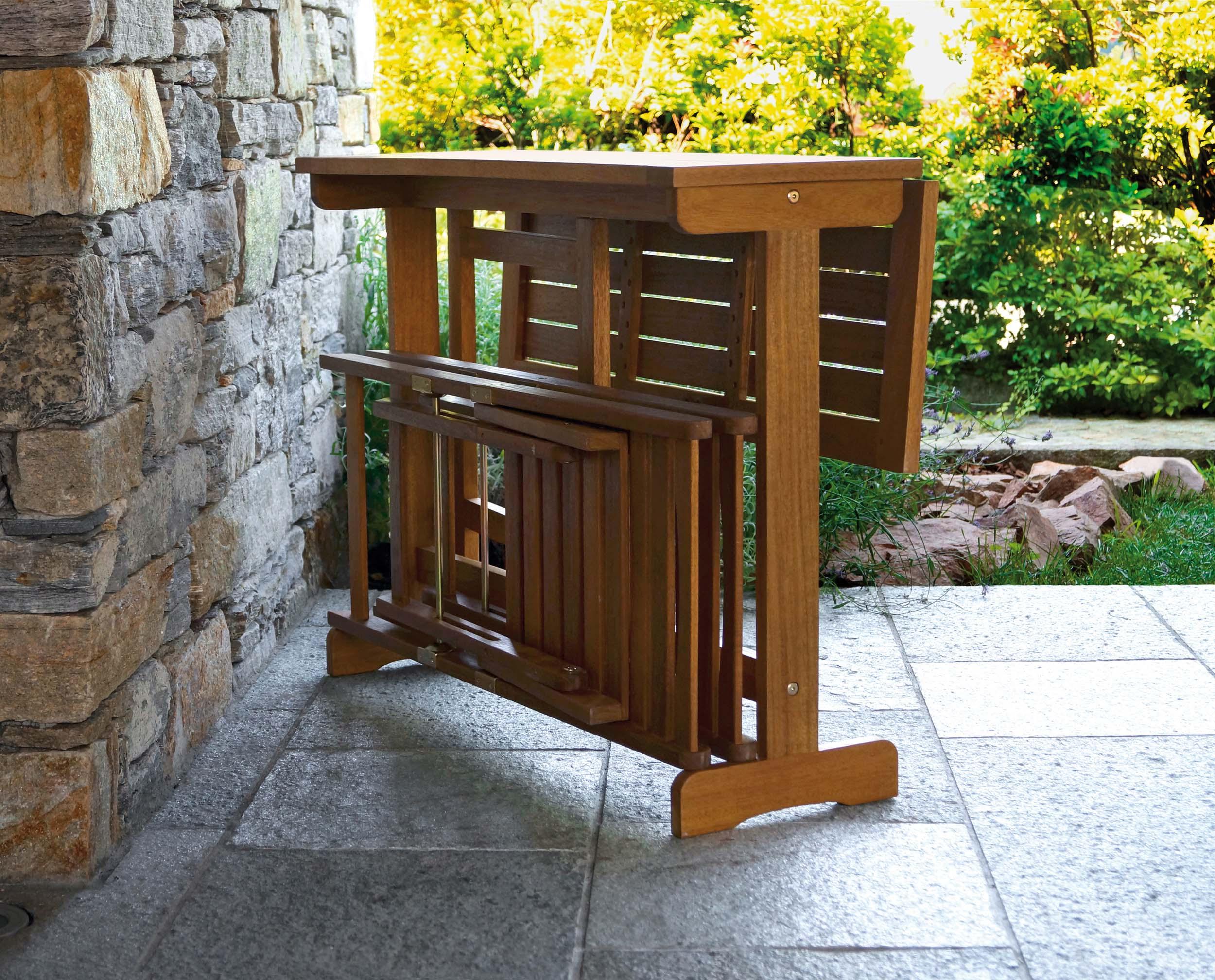 Tavolo da giardino richiudibile for Arredo giardino bertoni