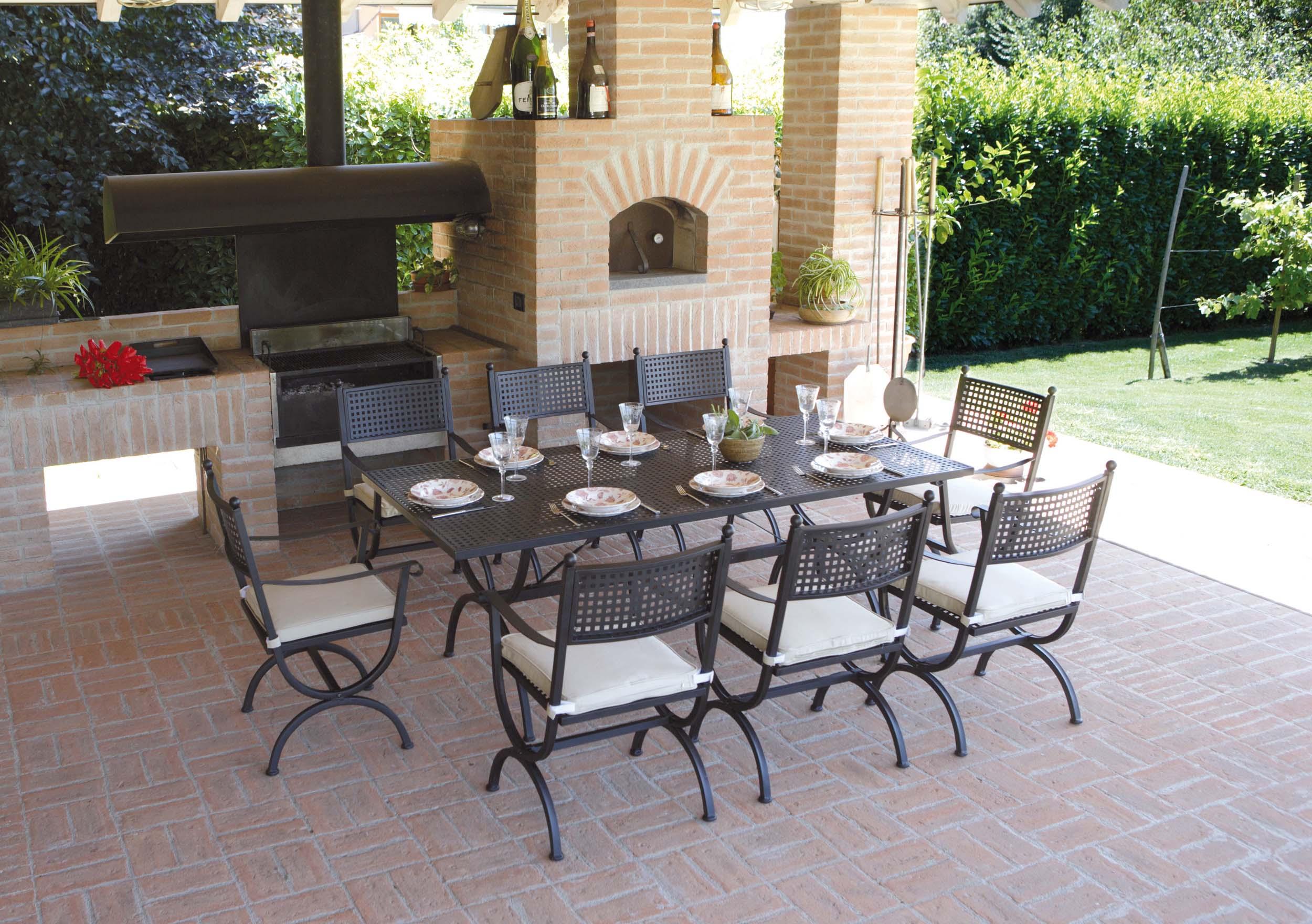 Lugano arredo giardino ercole tempo libero for Tavolo ferro esterno