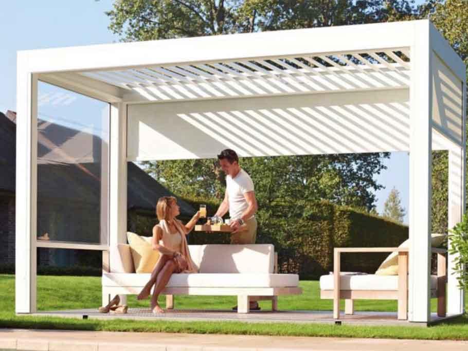 Gazebi e pergole alluminio arredo giardino ercole tempo libero