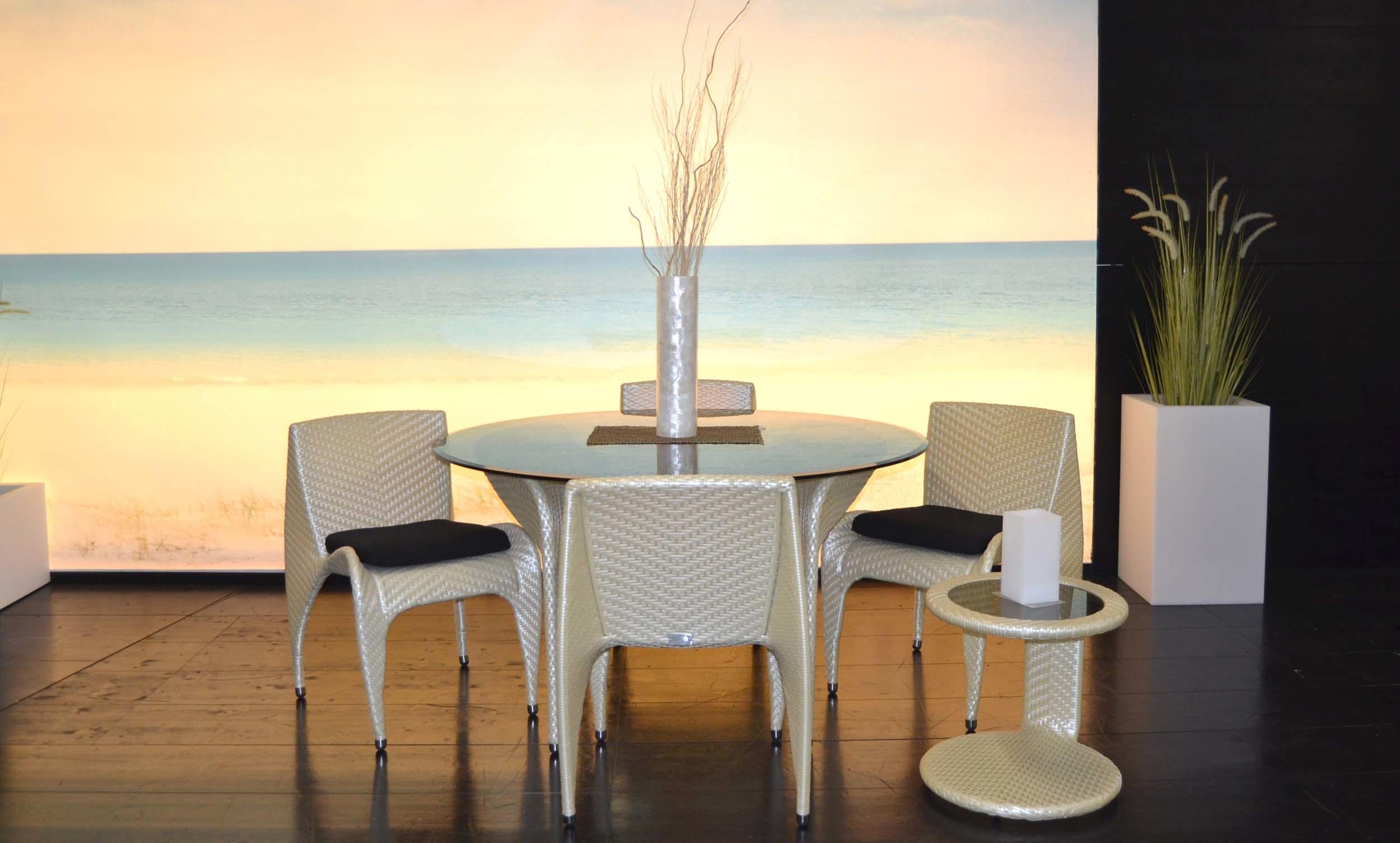 perfect tavolo diametro cm poltroncine in tecno rattan e struttura portante in alluminio e tavolino basso diametro cm with tavoli e se in rattan